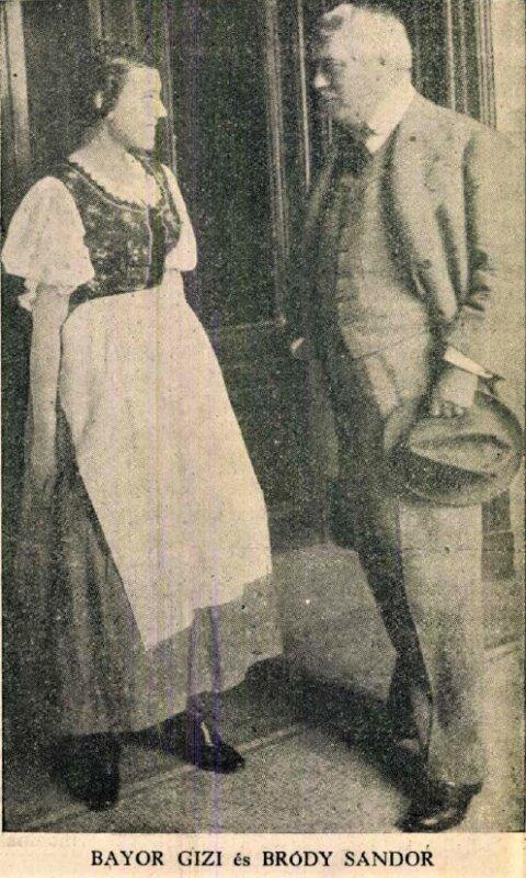 Bajor Gizi és Bródy Sándor