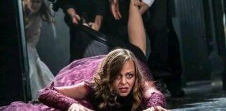 Béres Márta az Újvidéki Színház Anna Karenina előadásában - forrás: a színház FB oldala