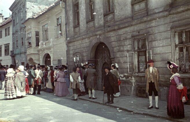 Sopron, belváros, 1955 / forrás: Fortepan
