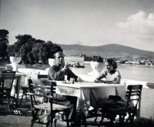 Ráday Imre és Tolnay Klári a Tisztelet a kivételnek című film forgatásán Tahitótfalun, 1936 / Fortepan