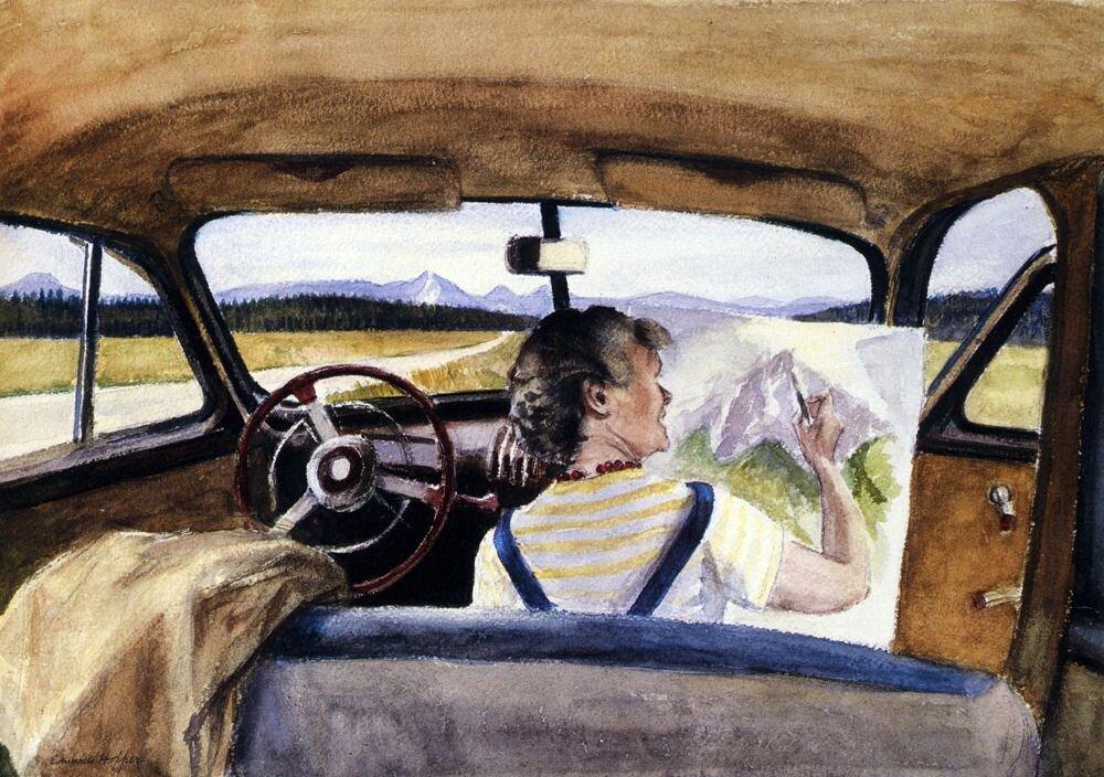 Edward Hopper: Jo vázlatokat Wyomingban 1946 - forrás: Whitney Museum