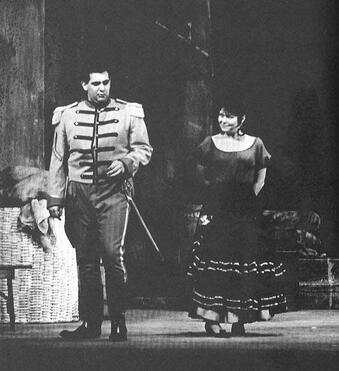 Domingo a Carmen előadásán 1963-ban