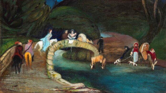 Csontváry Kosztka Tivadar: Hídon átvonuló társaság - forrás: Virág Judit Galéria