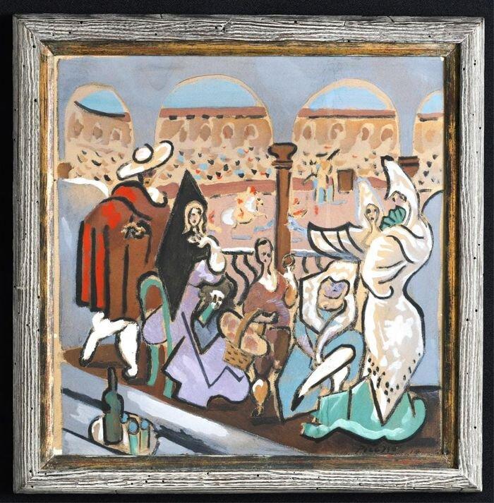 """Pablo Picasso """"Le Tricorne,"""" vázlata forrás: John McInnis Auctioneers"""