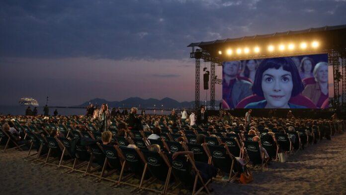 Az Amelie csodálatos életét vetítik a Cinéma de la Plage -ban - forrás: Festival de Cannes FB-old