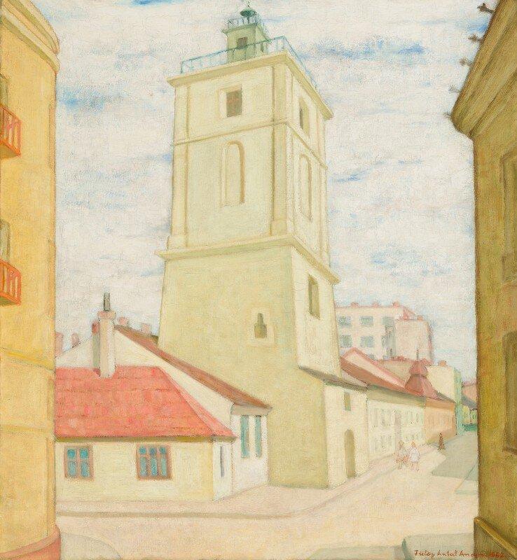 Fülöp Antal Andor: A kolozsvári Tűzoltótorony – forrás: Quadro Galéria