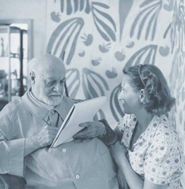 Henri Matisse és Lydia Delectorskaya - forrás: muzaart.ru