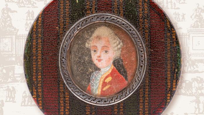 Nyitókép: Stefaan Missinne Mozart's Portrait on a French Box of Sweets című könyve borítójának részlete. Forrás: Hollitzer.at