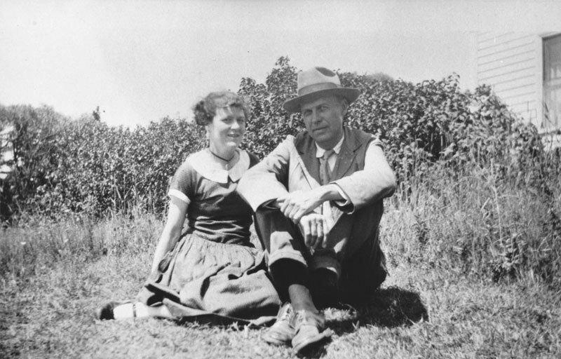 Jo és Ed Hopper, 1927. forrás: Hopper's Vermont