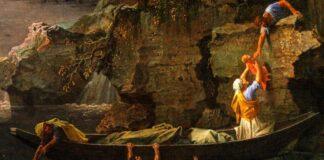 Poussin: Özönvíz vagy tél című képének újraszínezett részlete