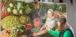 A zöldségárus lány és a restaurátorok - forrás: English Herritage