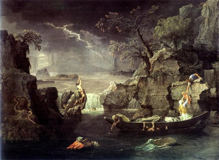 Nicolas Poussin: Özönvíz, avagy tél (1660-64) - forrás: wikipedia