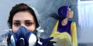 Shamsia Hassani, Afganisztán egyik első női graffitise és egyik képe - forrás: www.shamsiahassani.net/