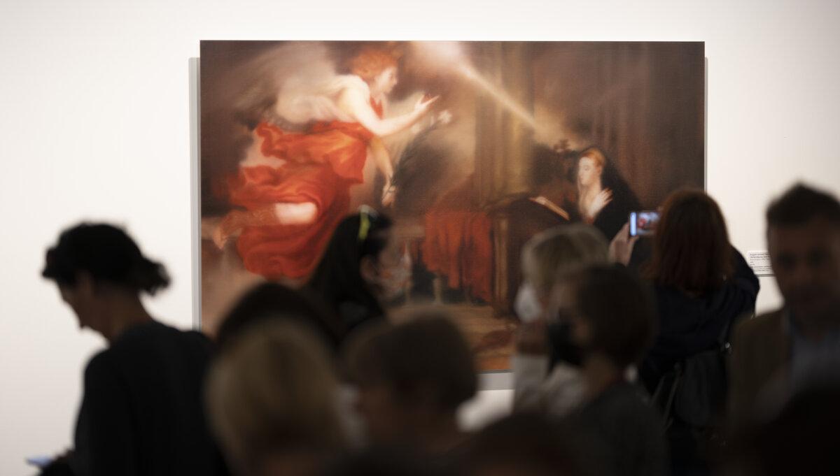 Érdeklődők a 2021. augusztus 26-i sajtótájékoztatón - forrás: Szépművészeti Múzeum - Magyar Nemzeti Galéria / Fotó: Szántó András