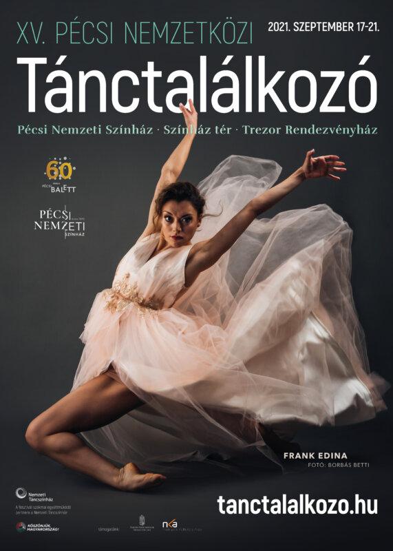 A Pécsi Nemzetközi Tánctalálkozó plakátja - forrás: Pécsi Balett