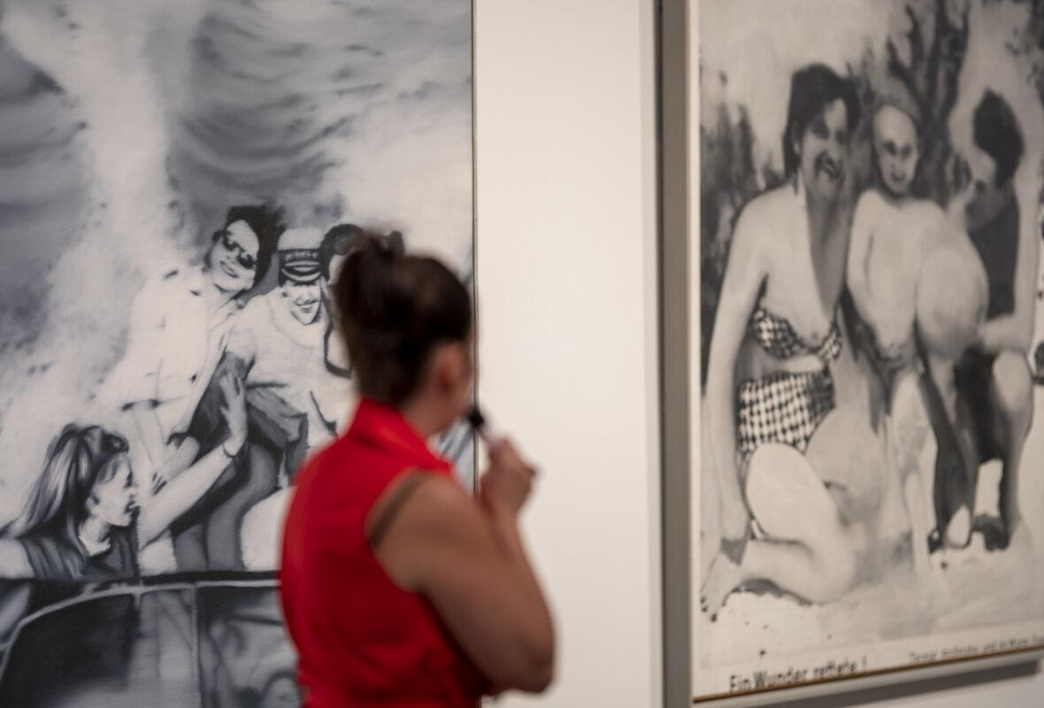 Bódi Kinga kurátor tárlatvezetése a 2021. augusztus 26-i sajtótájékoztatón - forrás: Szépművészeti Múzeum - Magyar Nemzeti Galéria / Fotó: Szántó András