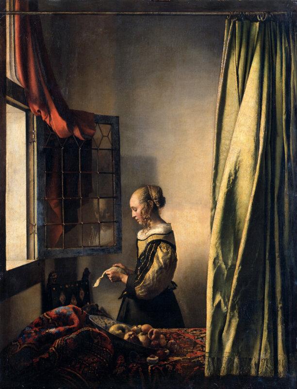 Jan Vermeer van Delft: Levelet olvasó lány nyitott ablaknál (1657) - wikipedia