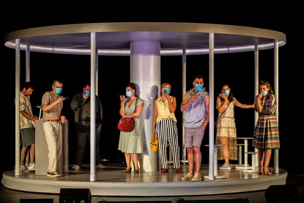 Budapest, Te! - jelenet az előadásból, fotó:Takács Attila