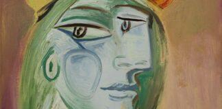Picasso: Femme au Béret Rouge-Orange (1938, részlet) - forrás: Sotheby's