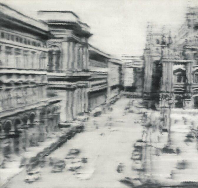 Gerhard Richter: Domplatz, Mailand – forrás: Sotheby's