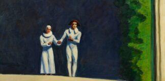 Edward Hopper: Két komédiás - 1965 - forrás: www.edwardhopper.net
