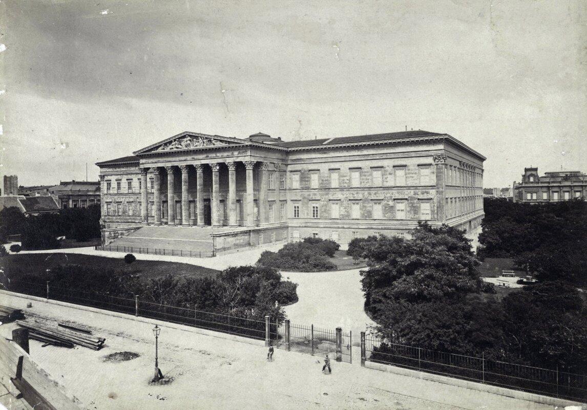 Múzeum körút, Magyar Nemzeti Múzeum. A felvétel 1879-ban készült - forrás: Fortepan / Budapest Főváros Levéltára / Klösz György fényképei