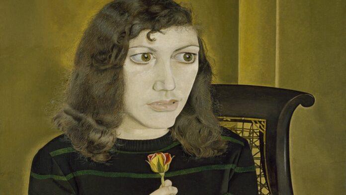 Lucian Freud: Lány rózsával (1947-8) - forrás: Courtesy of the British Council Collection. Photo © The British Council