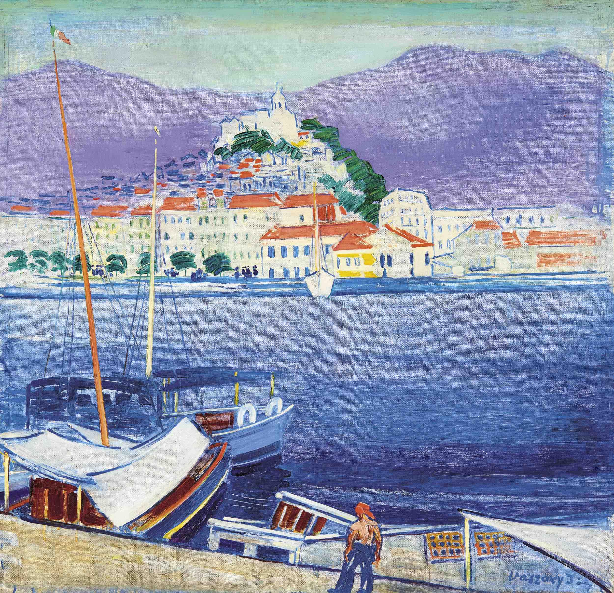 Vaszary János: San Remo – forrás: Virág Judit Galéria