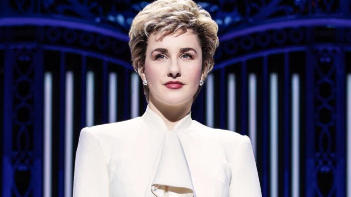 Jeanna de Waal Diana szerepében - forrás: a produkció oldala - fotó: Even Zimmerman/Matthew Murphy