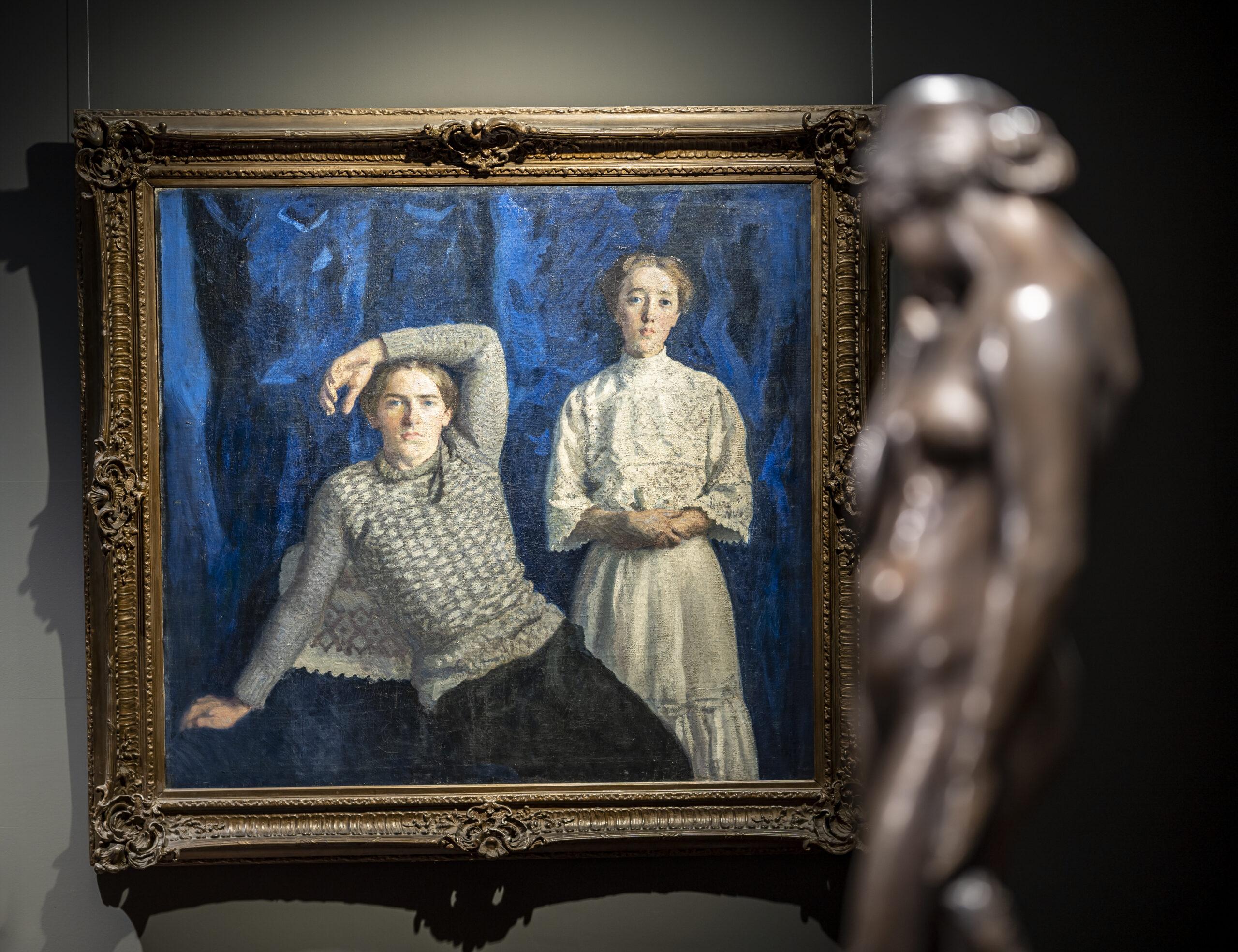 Ferenczy Károly gyermekei: Noémi és Béni - Magyar Nemzeti Galéria - fotó: Szántó András