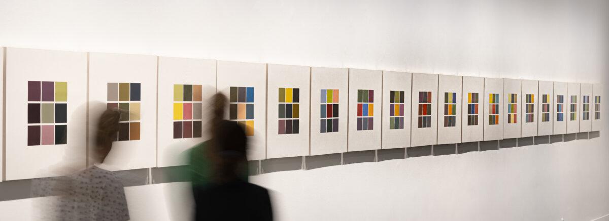 A Gerhard Richter. Valós látszat című kiállítás a Magyar Nemzeti Galériában / fotó: Szántó András