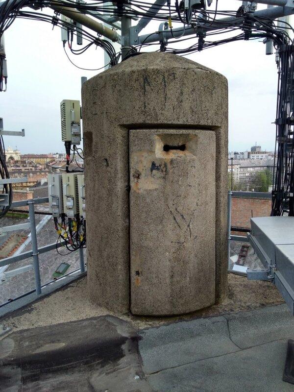 A beton őrhely a légvédelmi megfigyelőket szolgálta - Fotó: Marton Ildikó