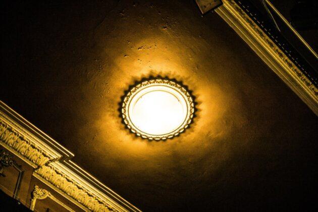 A nézőtér mennyezete - Fotó: Hargitai Soma
