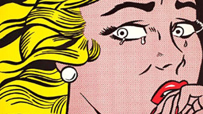 Roy Lichtenstein: Síró lány – forrás: Christie's