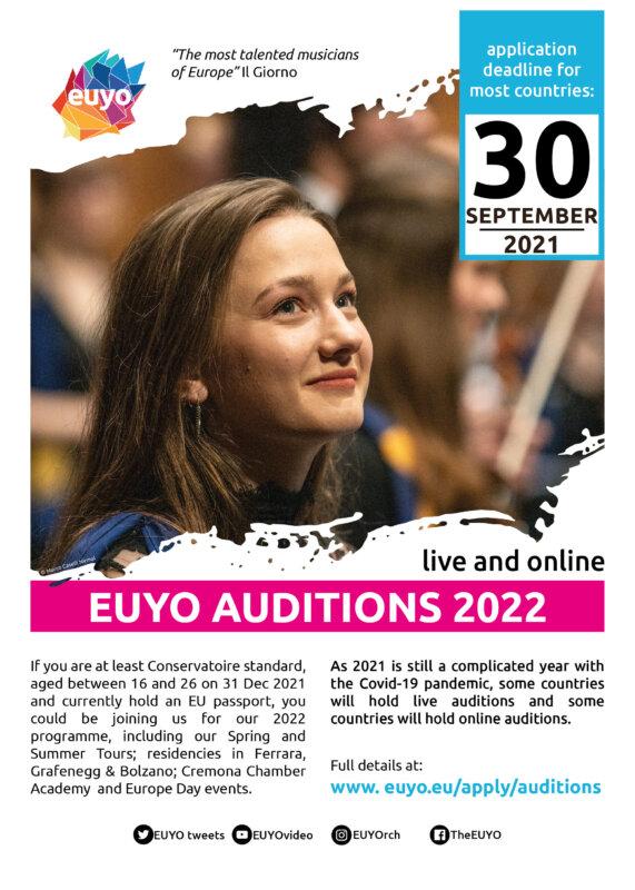EUYO audition