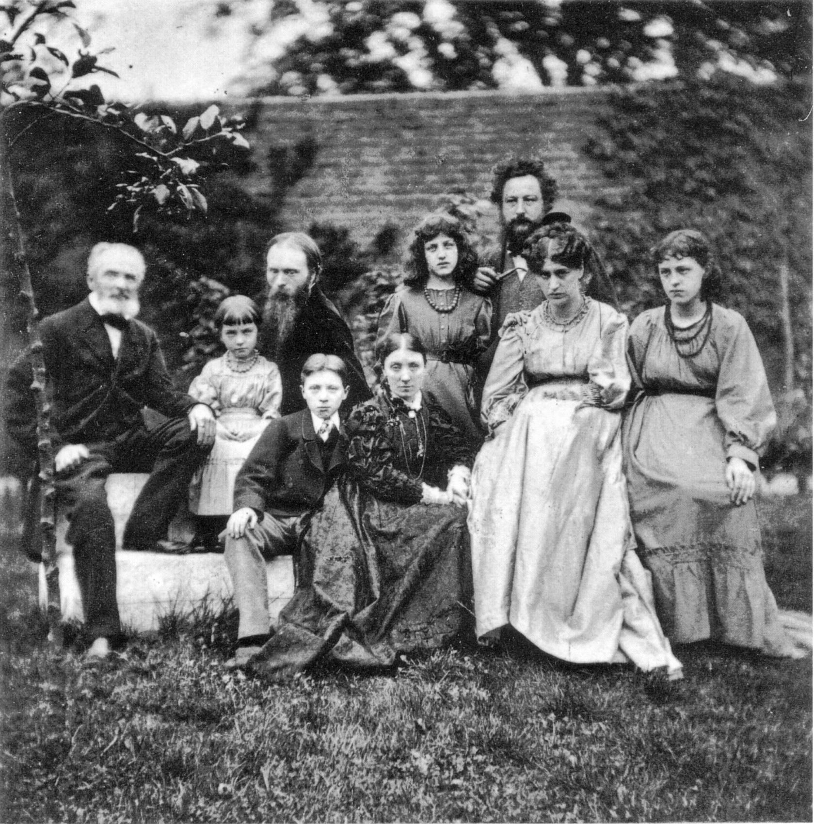 A Gray család, többek közt Effie édesanyja és édesapja és John Everett Millais 1855-ben.