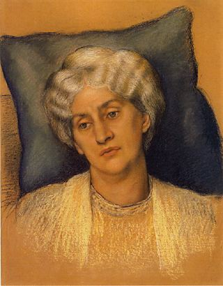 Evelyn De Morgan: Tanulmány Jane Morrisról (1904) - forrás: wikipedia