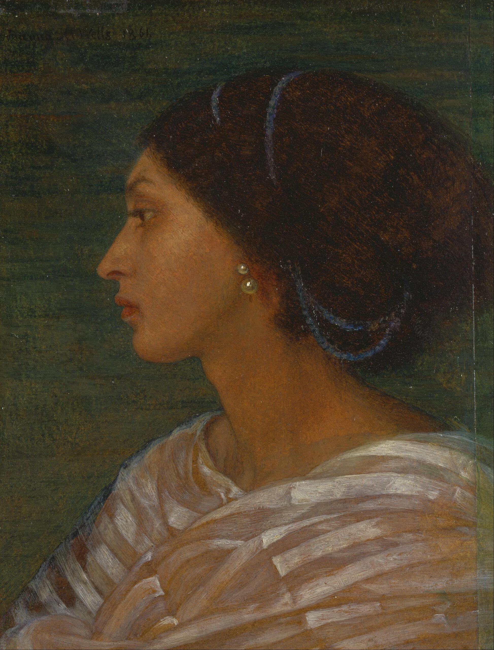 Joanna Boyce Wells_-Mulatt női fej - Fanny Eaton portréja