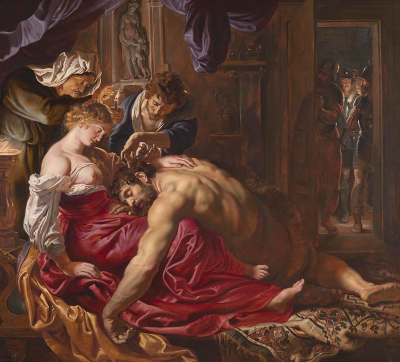 Peter Paul Rubens: Sámson és Delila - forrás: London National Gallery
