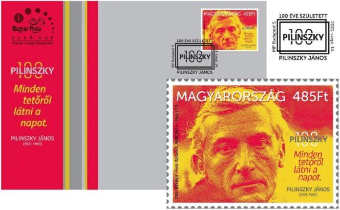 Pilinszky-bélyeg - forrás: Magyar Posta