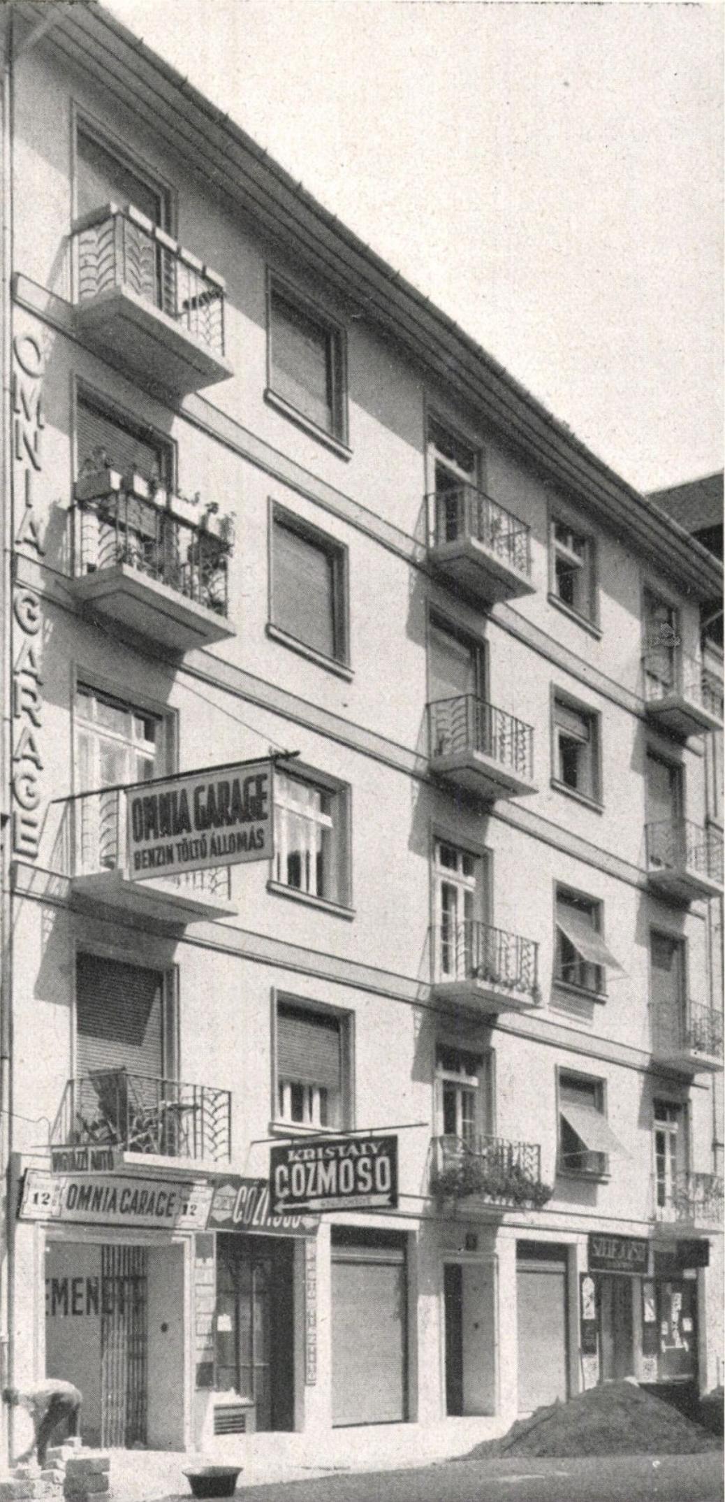 Víg utca 22. - forrás: Tér és Forma, 1931