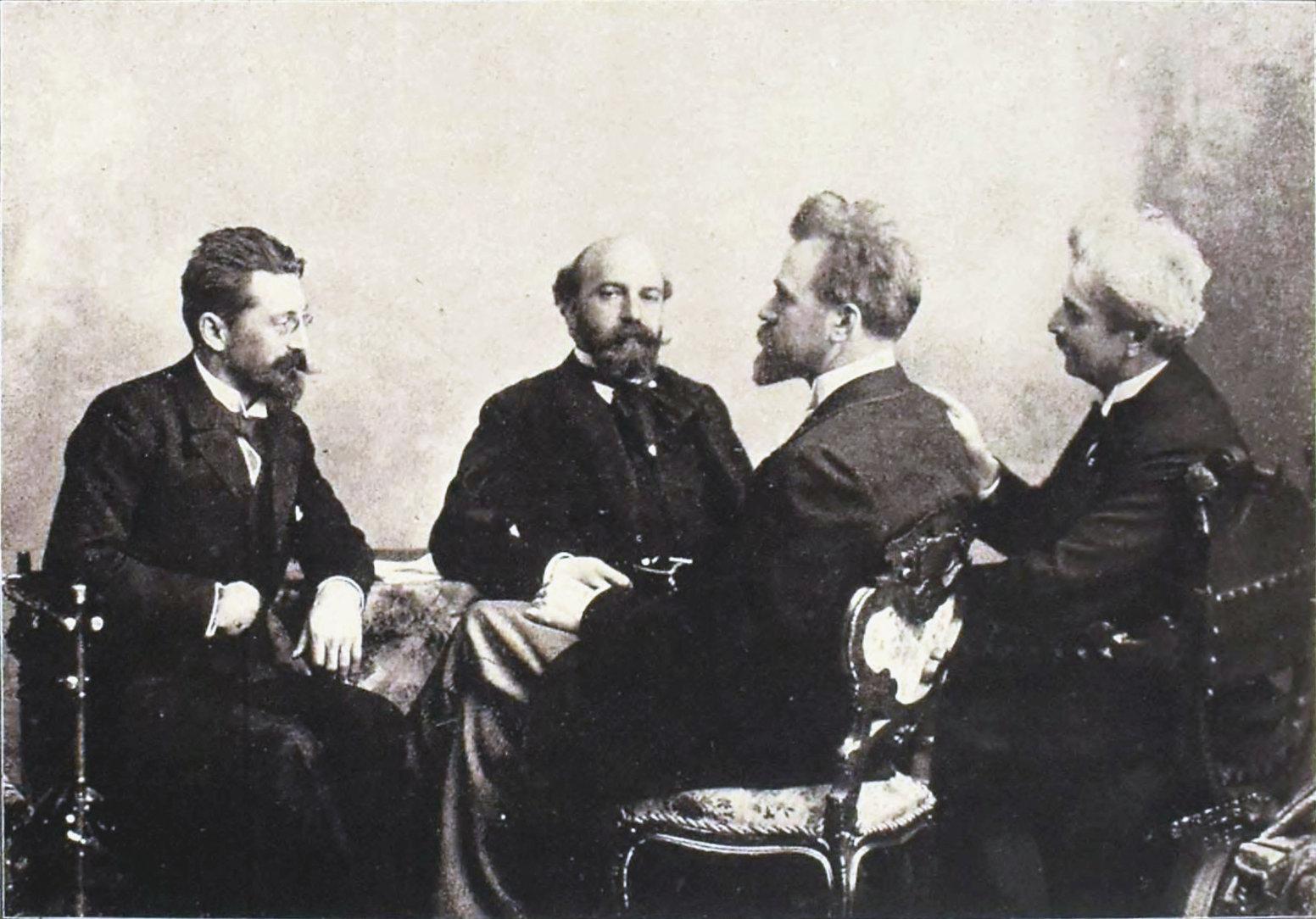 A Hubay-Popper vonósnégyes 1898-ban - forrás: közkincs