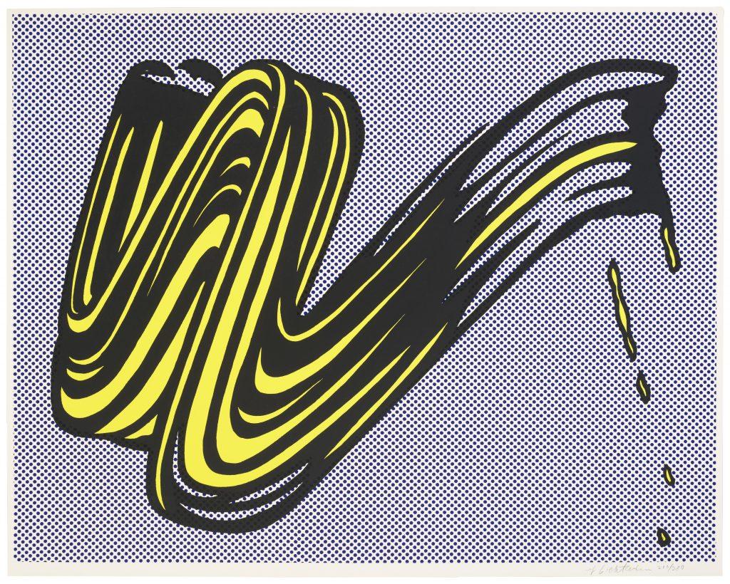 Roy Lichtenstein: Ecsetvonás (C.II.5.) – forrás: Christie's