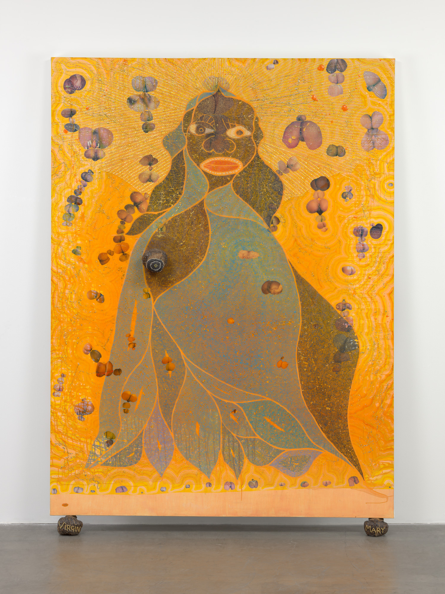 Chris Ofili: Szűz Mária – forrás: Museum of Modern Art